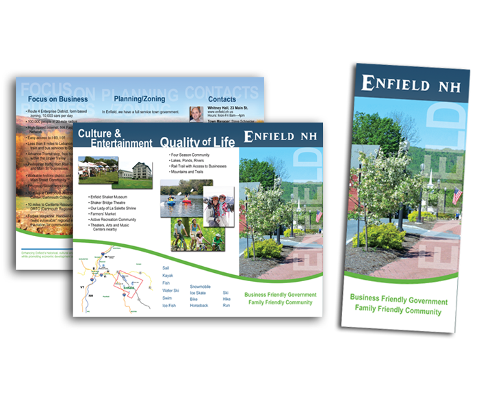 brochure layout and design services upper valley nh vt